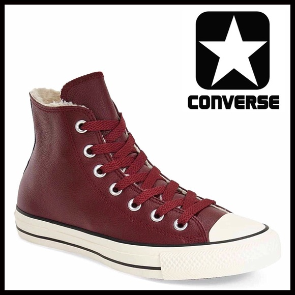 20ad11163493 CONVERSE CHUCK TAYLOR LEATHER HIGH TOPS SNEAKERS
